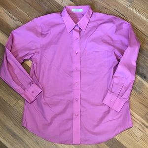 FOXCROFT WRINKLE FREE PINK BLOUSE 14